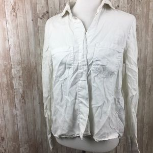 Cloth & Stone White Chambray Button Down Top